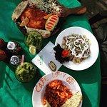Trout, Salad, Fusilli and Hulk at Cafe 1947 :)