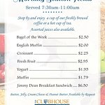 Morning Station Menu - available 7:30AM-11AM