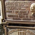 Evita's plaque