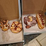 A few donuts...maple bacon and others