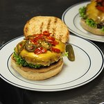 The Sterke Nils burger with double cheddar and three types of chili