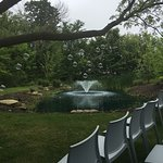 Backyard pond and garden.  Beautiful enough for a wedding.