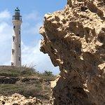 Lava rock beneath the lighthouse