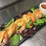 Handmade Coconut Shrimp with Sweet Mango Chutney Dipping Sauce