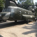 Helicopter used during the war on display at the War Remnants Museum. One of many things to see.