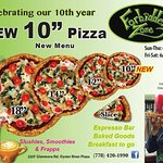 Come in and try our 10 inch pizza! Check our our full menu at www.forbiddenzonepizza.com