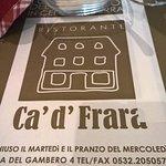 Φωτογραφία: Ristorante Ca' d'Frara