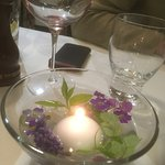 Very pretty candle and flowers