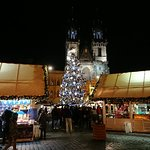 We visited in January when the Christmas markets were still in the square. Very pretty square es