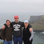 A cloudy and cool day at the Cliffs of Moher but a good day with family.
