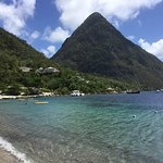 sugar beach between the Pitons for a swim and snorkeling