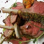 Our herb crusted lamb rack with sweet potato