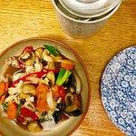 chicken & egg plant stir fry