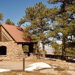 Picnic shelter and tables at Flagstaff Summit