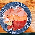 Sashimi with rice bowl