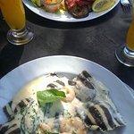 Ravioles  de salmon y Pacu grille... dos manjares