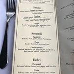Seattle Restaurant Week menu.