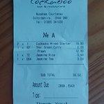 our receipt