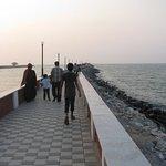 Walkway into the sea.