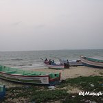 Fishermen and their boats at Malpe.