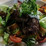 Lamb back strap salad