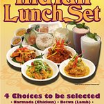 Indian Lunch Set. All time favorite. Available at Kembali Kitchen, Level 6 from 12.30pm until 2.