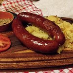 Typical slovenian sausage