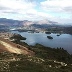 view from the top over derwent water