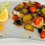 Pasta con Pistacchi e Gamberi Soute' di Cozze e Vongole Spigola al forno
