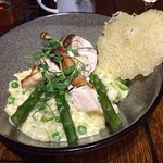 chicken supreme with risotto and parmesan crisp