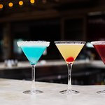 Some of our favorite martinis looking tasty in our Skyline Bar