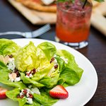 Cleopatra Salad with Strawberry Basil Margarita