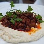 اللحم والبطاطس المهروس