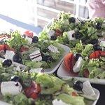 изобилие салатов !!!