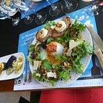Et voila une magnifique assiette vegetarienne composée au moment !