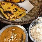 Vegetable koftas and chickpea roti