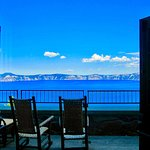 Enjoy the view from the famous rocking chairs at Crater Lake Lodge!