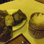 Mokpa steamed Mekong riverfish in banana leaf at Garden Rest. So GOOD!