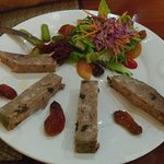 Terrine plate, with great bread. Yum!