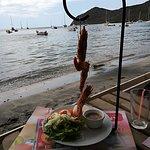crevettes grillées (belle présentation)