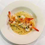 Shrimp scampi, one of our most populars dishes.