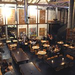 Repurposed warehouse chic. Urban, foodie heaven.