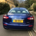 Castle Combe Village - Maserati blue car
