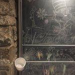 Kids chalkboard in the reading den