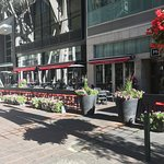 We have one of the sunniest and largest patios on Stephen Ave! Heaters will keep you warm at nig