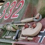 German armour and markings - I think this was on a Panzer sitting in the yard.