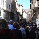 Crowded narrow streets