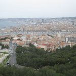 The view of Marseille as seen from Basilique Notre Dame de la Garde