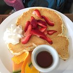 Had breakfast at the cafe this morning, the Westcoast benny was next level. Kids pancakes were a