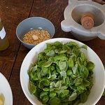 Pesto preperation